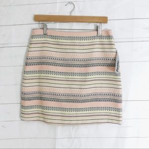 NWT LOFT Stripe Skirt Petite 10P womens